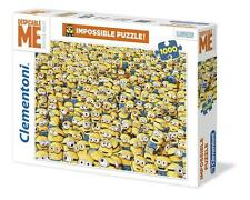 CLEMENTONI JIGSAW PUZZLE MINIONS IMPOSSIBLE PUZZLE! 1000 PC DESPICABLE ME #31450