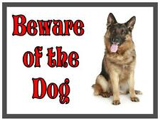 German Shepherd Beware of the Dog  Design Metal Door Sign