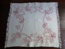 ANCIEN NAPPERON 01 chanvre brodé main 67X71 Old Embroidered Hemp Place mat