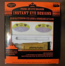PRESS ON EYESHADOW 2PIECE INSTANT EYE PEACE SIGNS TATTOO KIT~COSTUME MAKEUP