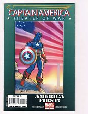 Captain America Theater Of War America First! # 1 Marvel Comic Books WOW!!!! S34