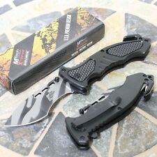 MTech USA Xtreme Ballistic Tactical Military Rescue Folding Pocket Knife Black