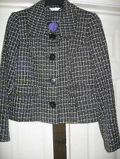 NEW WOMENS CLOTHES JACKET BLACK WHITE PURPLE GREY CLASSICS UK SIZE 18 BNWT