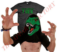 Men's Ask Me About My T-Rex T Shirt Funny Flip Up Trex Halloween Dinosaur Tee