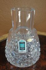 Avitra Hand Cut Lead Crystal Vase Made In Poland