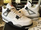 Nike Air Jordan Retro IV 4 OG 89 2016 White Cement Tech Grey Fire Red 840606-192
