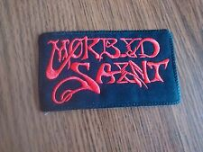 MORBID SAINT,SEW ON RED EMBROIDERED PATCH