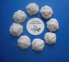 8 French Lilac pure Soy Wax Flower shape melts for oil burner to scent your home