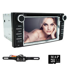 "6.2"" HD Double Din GPS Car Radio Stereo DVD Player Bluetooth iPod For Toyota+Cam"