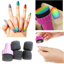 New Magic Nail Art Sponge Gradual Change Stamper Polish Stamping Brush Cosmetic