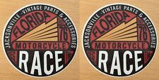 2x Vintage Parts Aufkleber Sticker Biker Chopper USA V2 Motorcycle Retro M016