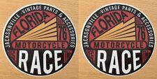 2x vintage parts Pegatina Sticker Biker Chopper estados unidos v2 Motorcycle retro m016