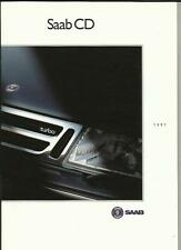SAAB CD TURBO, CDE, CDi AND CDS SALES BROCHURE LATE 1990 FOR 1991