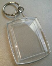 1x Blank Clear Acrylic Keyring 35x45mm Insert Craft Wholesale Keychain.
