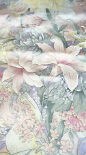 LILY FLORAL SMOOTH CHARMEUSE SATIN FABRIC 4 DRESS KIMINO QUILT DRAPE