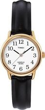 Timex T20433, Easy Reader, Women's, Black Leather Strap Watch, Indiglo, T204339J