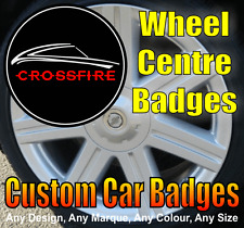 Chrysler Crossfire Wheel Centre Cap Badges (black/chrome/red)
