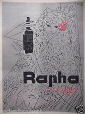 PUBLICITÉ 1959 RAPHA ON EN RAFFOLE - DESSIN LOUPOT - ADVERTISING