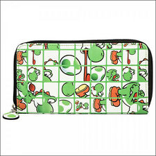 Nintendo Super Mario Bros Yoshi Envelope Zip Around Wallet Purse Bag Phone Case