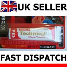1 x BLACK HIGH TEMPERATURE SILICONE ADHESIVE SEALANT 20ml HEAT RESISTANT 300'C
