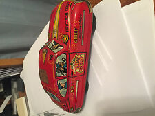 FIRE DEPT CHIEF NO 1 FRICTION VINTAGE CAR METAL TIN DRIVE RED 5 INCH