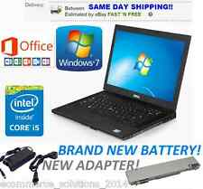 DELL LAPTOP LATITUDE WINDOWS 7 PRO CORE i5 OFFICE 2013 DVDRW WIFI COMPUTER HD PC