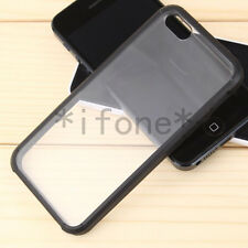 Hybrid Fusion for iPhone 5/5S Clear Back Slim Bumper Case Cover Silicone/Gel
