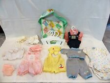 Vintage 1983 CABBAGE PATCH Diaper Bag + 15 Pieces of Clothing + Hangers