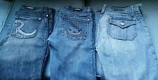 (3) WOMENS JUNIORS ROCK & REPUBLIC JEANS LOT! DENIM BLUE SIZE 27