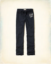 NWT Hollister by Abercrombie & Fitch Women Skinny Sweatpants Pants L Navy