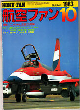 Koku-Fan Magazine October 1983 #10 Japanese Military Aircraft Afres Fighter Comp