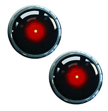 2 x Domed 3D Camera Eye Stickers Recording Warning Home Security Car Window