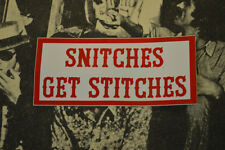 Hells Angels Nomads, AZ USA -Snitches Get Stitches - Stickers