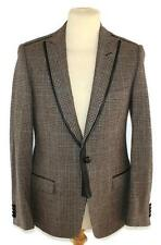 D&G DOLCE & GABBANA brown tweed wool cashmere jacket blazer IT 48 UK 38 M