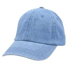 Carbon212 Denim Curved Visor Baseball Caps - Light Blue
