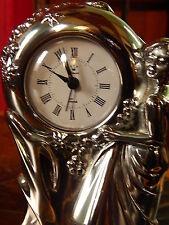 Plata esterlina sólida Reloj Vintage Coleccionable Estatua Ottaviani Grande 20 Cm