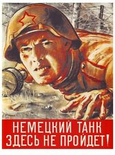 WW2 Russian Soviet Color POSTER Soldier 6 Propaganda Full Color, LQQK & Buy Now!