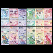 Bermuda Full Set 6 PCS, 2+5+10+20+50+100 Dollars, 2009, P-52-62, UNC