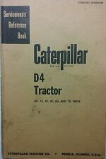 Caterpillar Diesel D4 Tractor Service Manual 170p 4G 7J 2T 5T 6U 7U Crawler CAT