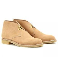 Bottega Veneta Sabbia Camel Beige Suede Ankle Chukka Desert Boots Size 38.5