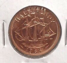 CIRCULATED 1964 HALF PENNY UK COIN (021516)