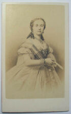 c1870 HENRIETTE OF AUSTRIA  QUEEN KING LEOPOLD 11 BELGIUM  NEURDEIN CDV PORTRAIT