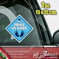 Adesivo Stickers Auto Moto Camper PRINCE ON BOARD segnale a bordo