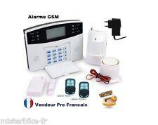 Kit Alarme Maison Sans Fil GSM SMS Auto Appel Anti Vol 1-> 99 Zones SMS IPHONE