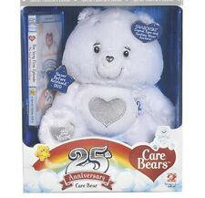 Care Bears 25th Anniversary White Care Bear With Swavoski Crystal Eyes,Brand New