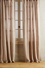(2) Anthropologie Anchorage Striped Linen Curtain Panels BNWOT