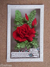 R&L Postcard: 21st Birthday Wishes, Red Roses, Flowers, Rotary