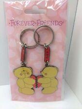 New FOREVER FRIENDS Bears Pair Key Rings  *BEAR* & *HUG*  Christmas Gift BNWT