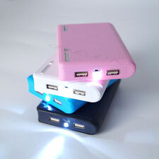 Blue 12000mAh Portable Mobile Power Bank Dual USB Battery Charger For Cellphone