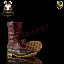 ACI Toys 1/6 Fashion Boots S4 749B_ Outdoor Hunting Boots: Dark brown _B AT084B